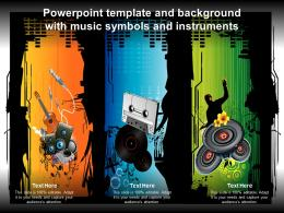 Powerpoint Template And Background With Music Symbols And Instruments
