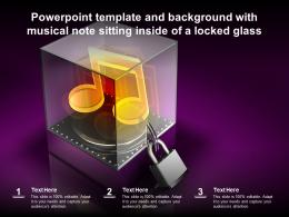Powerpoint Template And Background With Musical Note Sitting Inside Of A Locked Glass