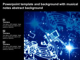 Powerpoint Template And Background With Musical Notes Abstract Background