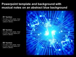 Powerpoint Template And Background With Musical Notes On An Abstract Blue Background