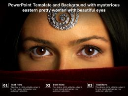 Powerpoint Template And Background With Mysterious Eastern Pretty Woman With Beautiful Eyes
