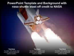 Powerpoint Template And Background With Nasa Shuttle Blast Off Credit To Nasa