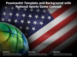 Powerpoint Template And Background With National Sports Game Concept