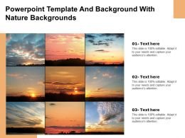 Powerpoint Template And Background With Nature Backgrounds