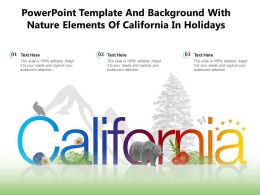 Powerpoint Template And Background With Nature Elements Of California In Holidays