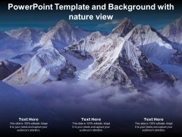 Powerpoint Template And Background With Nature View