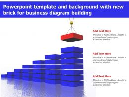 Powerpoint Template And Background With New Brick For Business Diagram Building