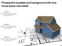 Powerpoint Template And Background With New House Plans Real Estate