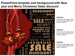 Powerpoint Template And Background With New Year And Merry Christmas Sales Discount