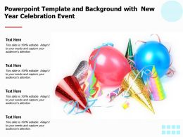 Powerpoint Template And Background With New Year Celebration Event