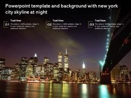 Powerpoint Template And Background With New York City Skyline At Night