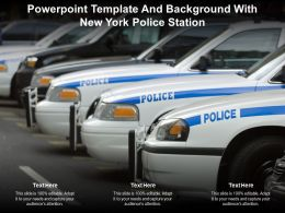Powerpoint Template And Background With New York Police Station