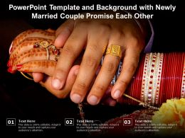 Powerpoint Template And Background With Newly Married Couple Promise Each Other
