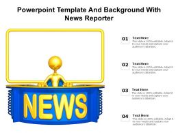 Powerpoint Template And Background With News Reporter