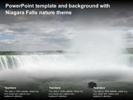 Powerpoint Template And Background With Niagara Falls Nature Theme