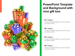 Powerpoint Template And Background With Nice Gift Box