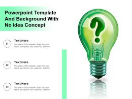 Powerpoint Template And Background With No Idea Concept