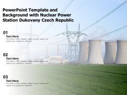 Powerpoint Template And Background With Nuclear Power Station Dukovany Czech Republic