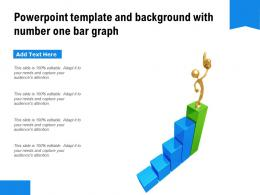 Powerpoint Template And Background With Number One Bar Graph