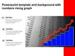 Powerpoint Template And Background With Numbers Rising Graph