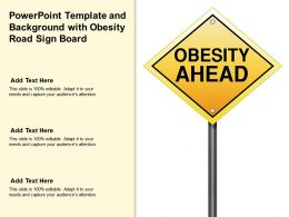 Powerpoint Template And Background With Obesity Road Sign Board