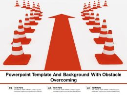 Powerpoint Template And Background With Obstacle Overcoming