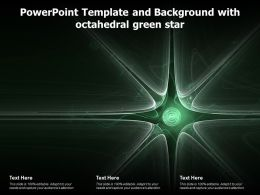 Powerpoint Template And Background With Octahedral Green Star