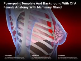 Powerpoint Template And Background With Of A Female Anatomy With Mammary Gland