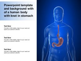 Powerpoint Template And Background With Of A Human Body With Knot In Stomach
