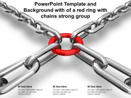 Powerpoint Template And Background With Of A Red Ring With Chains Strong Group