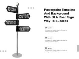 Powerpoint Template And Background With Of A Road Sign Way To Success