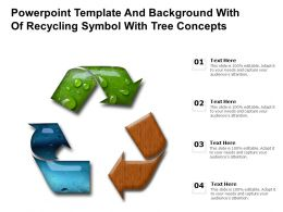 Powerpoint Template And Background With Of Recycling Symbol With Tree Concepts