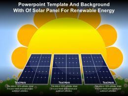 Powerpoint Template And Background With Of Solar Panel For Renewable Energy