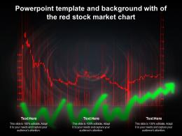 Powerpoint Template And Background With Of The Red Stock Market Chart