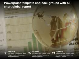 Powerpoint Template And Background With Oil Chart Global Report