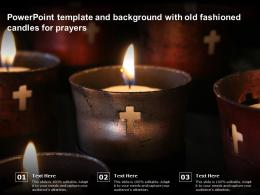 Powerpoint Template And Background With Old Fashioned Candles For Prayers