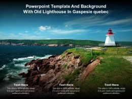 Powerpoint Template And Background With Old Lighthouse In Gaspesie Quebec