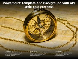 Powerpoint Template And Background With Old Style Gold Compass