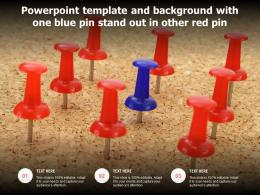 Powerpoint Template And Background With One Blue Pin Stand Out In Other Red Pin