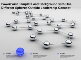 Powerpoint Template And Background With One Different Spheres Outside Leadership Concept