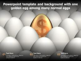 Powerpoint Template And Background With One Golden Egg Among Many Normal Eggs