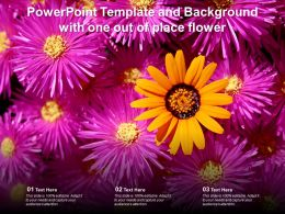 Powerpoint Template And Background With One Out Of Place Flower