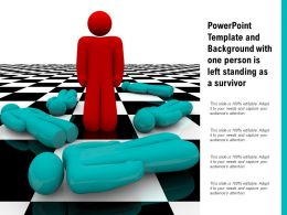 Powerpoint Template And Background With One Person Is Left Standing As A Survivor