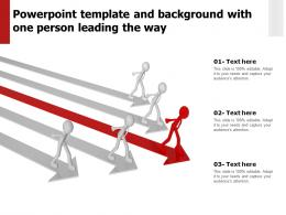 Powerpoint Template And Background With One Person Leading The Way