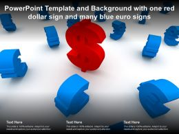 Powerpoint Template And Background With One Red Dollar Sign And Many Blue Euro Signs
