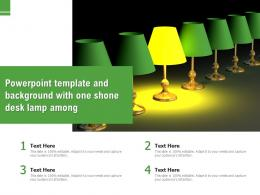 Powerpoint Template And Background With One Shone Desk Lamp Among
