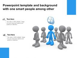 Powerpoint Template And Background With One Smart People Among Other