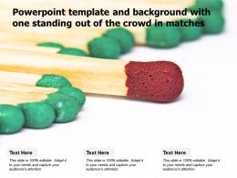 Powerpoint Template And Background With One Standing Out Of The Crowd In Matches