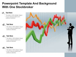 Powerpoint Template And Background With One Stockbroker