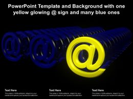 Powerpoint Template And Background With One Yellow Glowing Sign And Many Blue Ones